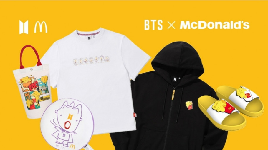11 Merchandise Baru BTS dan McDonald's Terinspirasi Lagu Butter