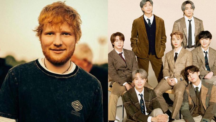 Detail Kolaborasi Ed Sheeran dan BTS di Lagu Baru