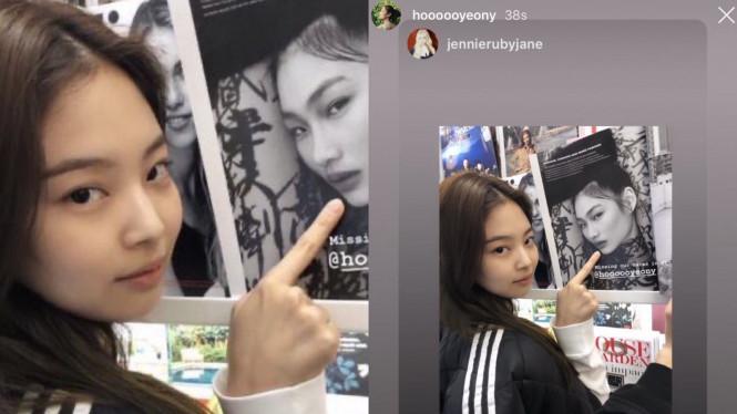 Jennie Blackpink dan Jung Ho Yeon