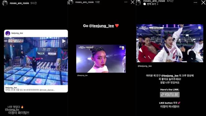 Rose Blackpink beri dukungan untuk YGX di Instagram